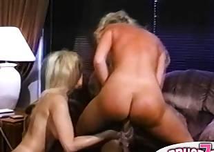 Hot retro lezzie adult movie stars in wild sex orgy
